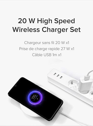 xiaomi m9t pro chargeur sans fil